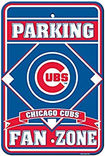 Fremont Die Official Major League Baseball Shop Authentic MLB Parking Sign - Man Cave and Bar (Chicago Cubs)