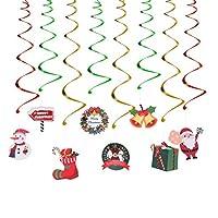 NUOBESTY 24ピースクリスマスまんじガーランド箔ぶら下げ天井装飾用クリスマスツリーぶら下げ装飾冬ワンダーランドホリデーパーティー用品好意
