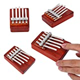 Kids Thumb Piano,5/6 Key Traditional Finger Piano Mbira Finger Percussion Pocket Keyboard Instrument for kid Children Musical Accompaniment Training Tool (5 Keys)