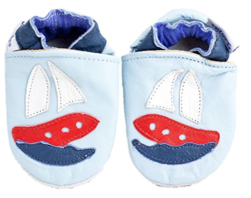 Soft leather baby shoes boats