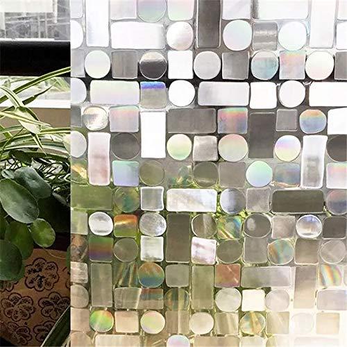 LMKJ Película de Ventana teñida con láser 3D, Pegatina de Vidrio, Vinilo, Cristal, Papel de Aluminio para el hogar, película de Espejo de PVC, película para Ventana B67 45x200cm