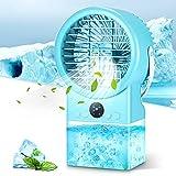 Vingtank Mobile Klimageräte Kleine, Mini-Klimaanlage Air Cooler, 3-in-1 Persönlicher Luftkühler|Luftbefeuchter|Ventilator 500ML mit 3 Modi/7 Farben Nachtlicht für Zimmer Zuhause Büro|Küche