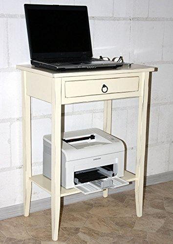 Massivholz Beistelltisch Konsolentisch Telefontisch Shabby Chic Creme