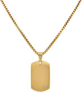 Best gold dog tag necklace mens Reviews