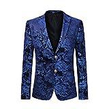 Cloudstyle Men's Dress Floral Suit Notched Lapel Slim Fit Stylish Blazer,Blue,Large...