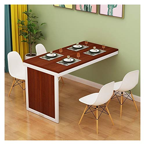 WZLL Wall-mounted Drop-leaf Table, Folding Invisible Workbench, Adjustable Home Dining Table Computer Desk, For Small Space (Color : Teak, Size : 120 * 50cm)