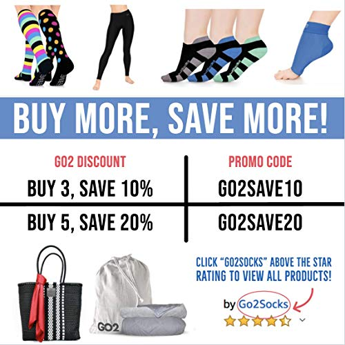 Go2 Compression Socks for Men Women Nurses Runners  Medium Compression Stockings (Polka, Small Single)