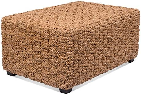 Best BIRDROCK HOME Checkered Weave Seagrass Coffee Table - Hand Woven - Rectangle - Living Room Decor - F