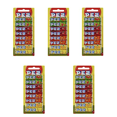 Pez Fruit Mix Stangen, 4 Sorten, 5 x 68g