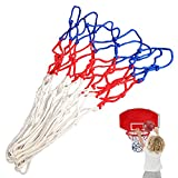 EDRLAITY Net Replacement for Mini Basketball Hoop with 8 Loops, All Weather Anti Whip, Fits Rims 8'-10.25', Ball Diameter Less Than 8'