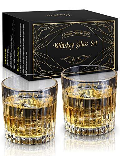 Whisky Glass, Whiskey Glasses Set of 2, STNTUS 290ml Old Fashioned Whiskey...