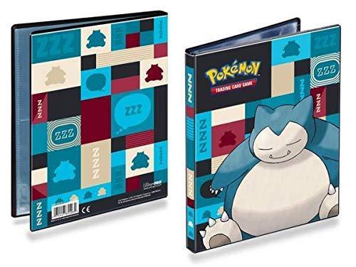 Lively Moments Pokemon Ultra-PRO-Binder - Raccoglitore Formato A5 Relaxo / Snorlax con 80 Scomparti, per Carte da Collezione