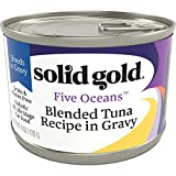 Solid Gold Shreds In Gravy Wet Cat Food; Five Oceans With Real Tuna (Formally New Moon), 16Ct/6Oz Can