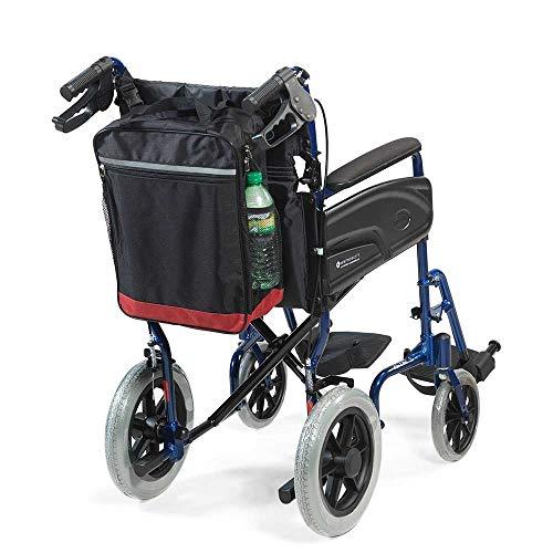 Reflektierende Rollstuhl-Rollertasche von NRS Healthcare, Schwarz und Burgund