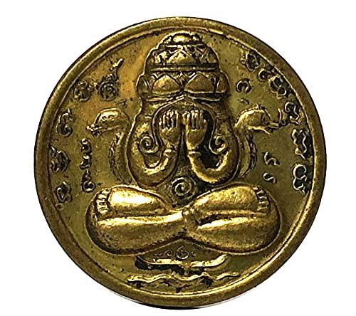 Powerful Amulets Jatukam Rama Dhep Rahu Pidta Miracle Fortune Buddha Thai Amulet Brass Coin Gift