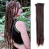ELIGHTY Dreadlock Extensions - 20 Inch Synthetic Braids, Soft faux Locs, Dreads, Crochet Locs, Hip-Hop Style, Dreadlocks Extension Braiding Hair For Women/Men (20 Inch (20 Strands/Pack), 4#)