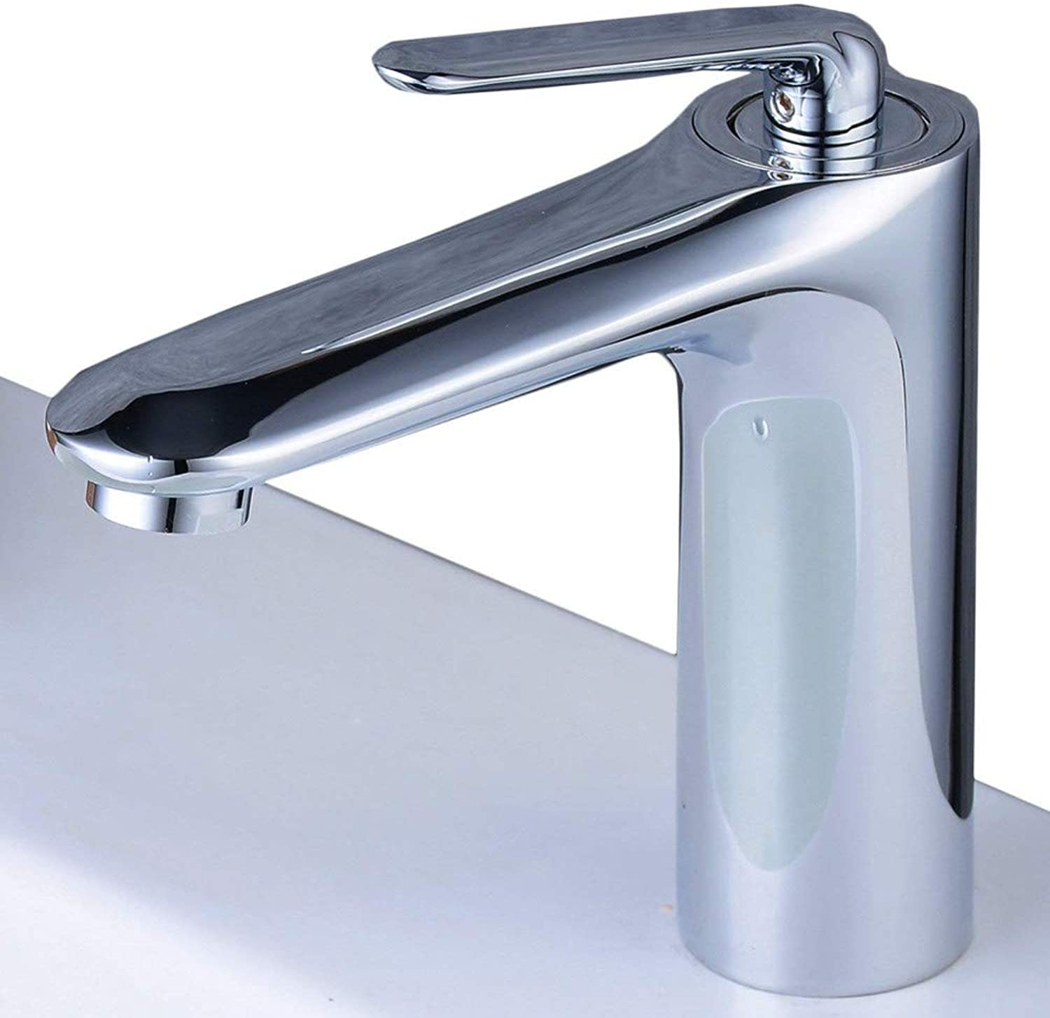 Faucetbathroom Basin Sink Mixer Taps Chrome Solid Brass Basin Hot and Cold Mixer Tap for Lavatory
