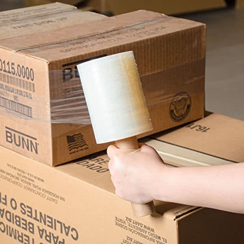 """TOTALPACK 5"""" x 1000' 80 Gauge, 12 Pack Shrink Mini Pallet with Dispenser, Film Plastic Hand Stretch Wrap, Clear (WS10224)"""