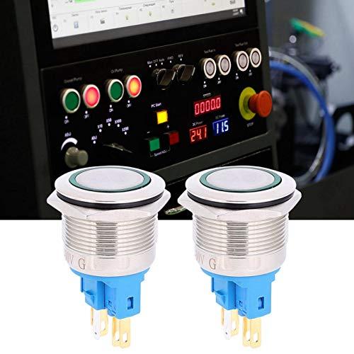 Botón pulsador resistente al óxido, interruptor de botón de reinicio, fábrica industrial para oficinas en el hogar(green, Pisa Leaning Tower Type)