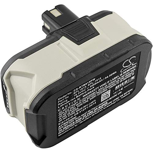 CS-RTB815PW Batterie 3000mAh Compatible avec [RYOBI] BID-1801M, BID-180L, BID1821, BIW180, CAD-180L, CAG-180M, CAP-1801M, CCC-1801M, CCC-180L, CCD-1801, CCG-1801M, CCG-180L, CCS-1801/DM, CCS-1801/LM,