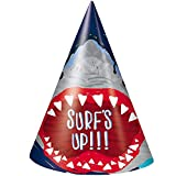 Unique Shark Party Hats, 8 Ct.