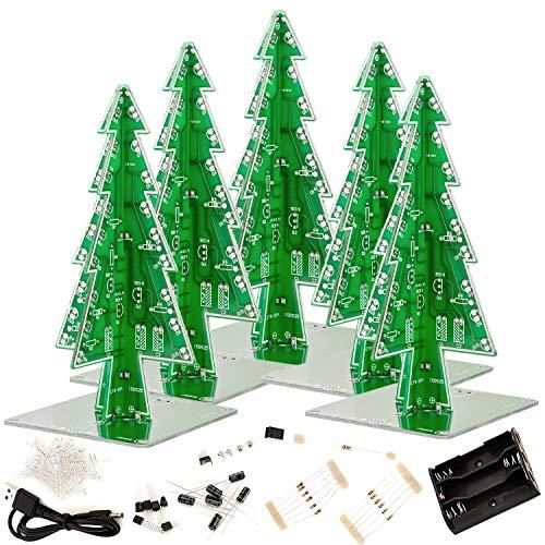 AZDelivery 5 x DIY LED Weihnachtsbaum Kit zum selber löten inklusive E-Book!