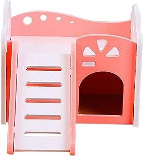 Plus Nao(プラスナオ) 小動物用ハウス ハムスター ペット用品 ハムスターの家 ペットグッズ ベット 階段 はしご ブルー ピンク かわいい 巣