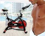 ECO-DE Bicicleta Spinning Trainer Pro. Uso semiprofesional con pulsómetro, Pantalla LCD y...