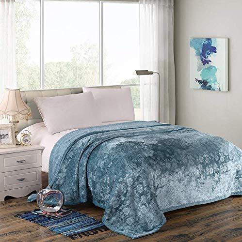 Cama en relieve cálida manta gruesa manta colcha reversible microfibra borrosa doble Queen Size Plaid para cama o sofá 200 * 230 cm