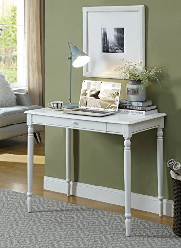 Convenience Concepts French Country Desk, 36-Inch, White