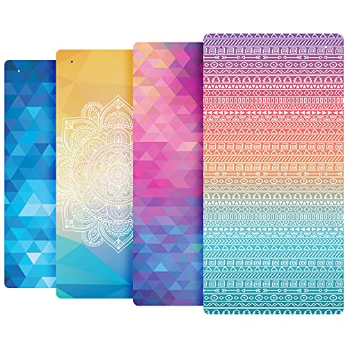 Reetual Modern Bathtub Mat Non Slip for Shower Tub - 32x16 XL Multi Colored Bath Mats with Unique Decorative Artisan Designs for Adults, Kids, Baby, with 200 Suction Cups for Grip (Cancun)