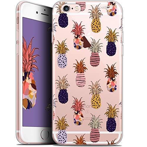 Caseink Coque pour Apple iPhone 6/6s (4.7) Gel HD [ Nouvelle Collection - Souple - Antichoc - Imprimé en France] Ananas Gold