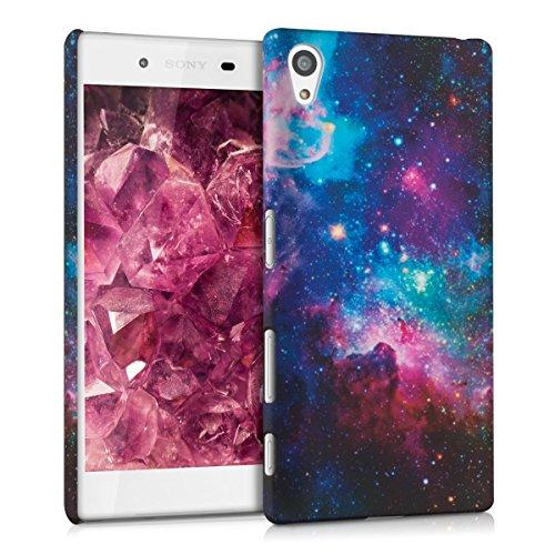kwmobile Hülle kompatibel mit Sony Xperia Z5 - Handy Case Handyhülle - Backcover Hardcover Cover Schutzhülle - Space Mehrfarbig Pink Schwarz