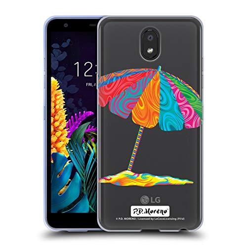 Officiële P.D. Moreno Strand Paraplu Geassorteerd ontwerp Soft Gel Case Compatibel voor LG K30 (2019)