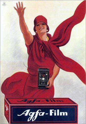 Posterlounge Leinwandbild 50 x 70 cm: Agfa Film von Marcello Dudovich - fertiges Wandbild, Bild auf Keilrahmen, Fertigbild auf echter Leinwand, Leinwanddruck