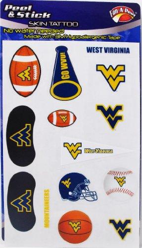 NCAA West Virginia Bergsteiger Football Basketball Baseball Set 14Stück sortiert Abziehen & Aufkleben Haut Tattoos