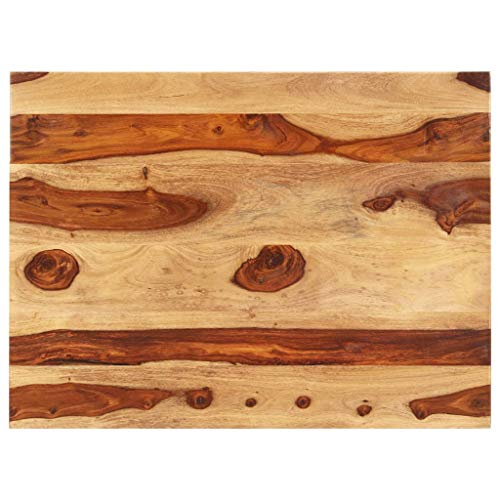 vidaXL Sheesham-Holz Massiv Tischplatte Massivholzplatte Holzplatte Ersatztischplatte Holz Platte für Esstisch Palisander 25-27mm 70x80cm