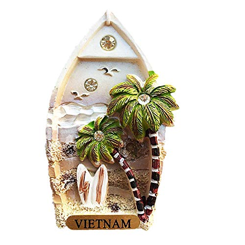 3D-Kühlschrankmagnet, Vietnam, Souvenir, Geschenk, Kühlschrank-Dekoration, magnetische Aufkleber-Kollektion