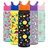 Simple Modern 22oz Summit Kids Water Bottle Thermos with Straw Lid - Dishwasher Safe Vacuum Insulated Double Wall Tumbler Travel Cup 18/8 Stainless Steel -Solar System
