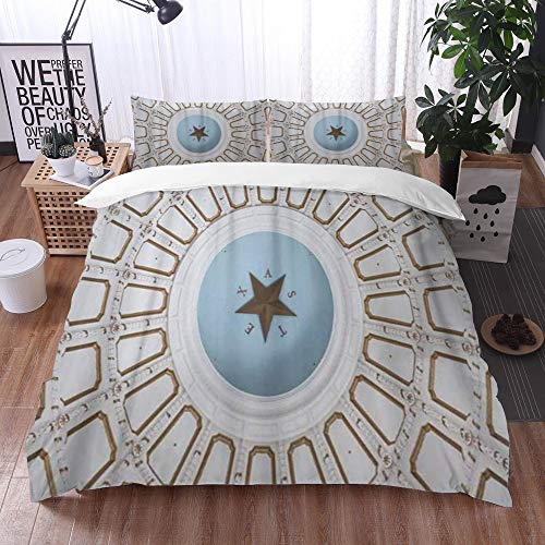 Mingdao bedding - Duvet Cover Set, Austin Inside The Rotunda of Texas State Capitol Building,Microfibre Duvet Cover Set 240 x 260 cmwith 2 Pillowcase 50 X 80cm