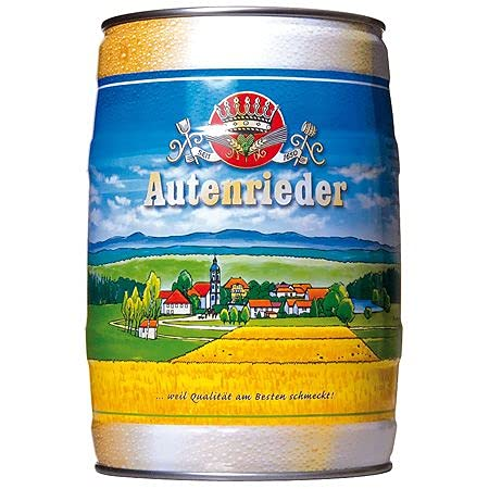 Autenrieder Pilsener (1 x 5l) Fass/Dose - Extra helles und elegantes Spitzenpils mit zartbitterem Aroma