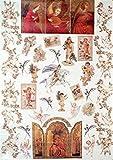 Decoupage Decopatch Soft Papier Bogen Engel & Christliche Motive 48x68