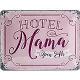 Nostalgic-Art Retro Blechschild Word Up – Hotel Mama –