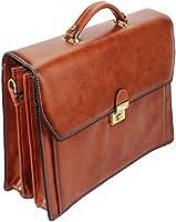 Frédéric Johns® - Cartable en cuir 3 compartiments - cartable cuir - porte document 3 soufflets - sac business -...