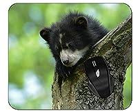 コンピューターのマウスパッドステッチエッジの赤ちゃん動物野生動物マウスパッド
