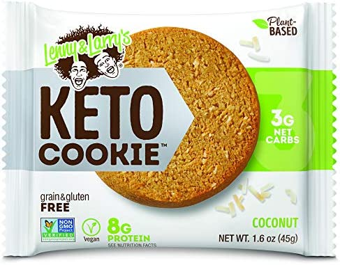 Lenny Larry s Keto Cookie Coconut Soft Baked 8g Plant Protein 3g Net Carbs Vegan Non GMO 1 6 product image