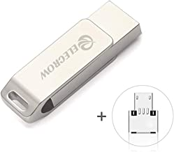 64GB USB Flash Drive 3 in 1 Lightning Memory Stick External Memory Storage OTG Flash Drive Compatible to Phone & Computer (Silver-64GB)