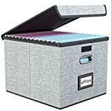 Best Filing Systems - Upgrade Portable File Organizer Box with Lids, Huolewa Review