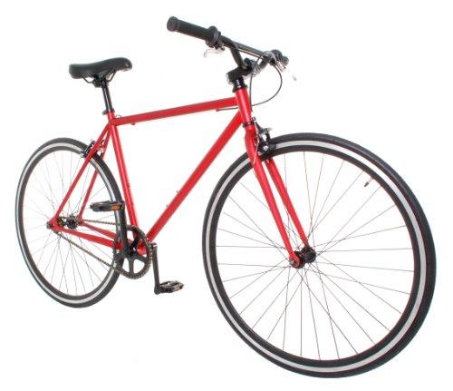 Buy Vilano Fixed Gear Bike Urban Single Speed Deep V 50 cm Wheels, Red