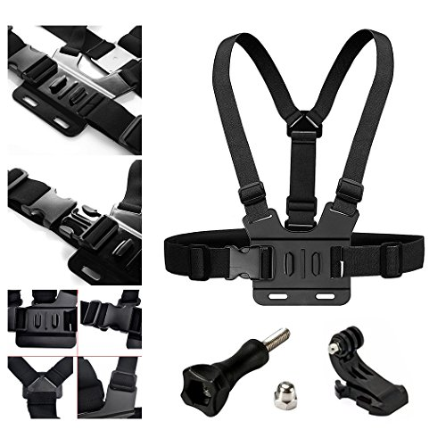 Adjustable Chest Strap Mount Elastic Action Camera Body Belt Harness with J Hook for GoPro HD Hero 5 4 3+ 3 GoPro 6 7 8